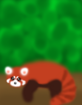 lazy red panda by ice-cat1729