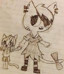 Julie and Buttons by x-vanilla-cupcakes-x