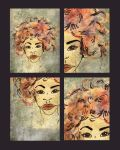 1 illustration 4 faces by Marie-Posa