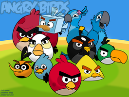 Angry Birds Wallpaper v2 by Coonstito