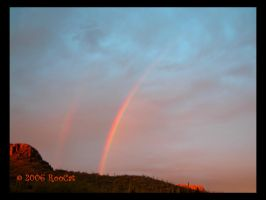 Another Sonoran Double Rainbow by RooCat