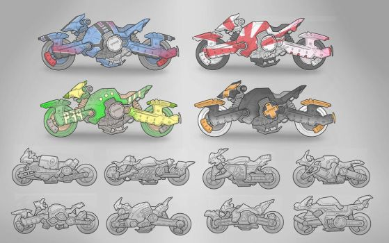 Motorcycle Concept Variations by BrotherBaston