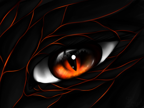 Dragon eye by Flamestorm14