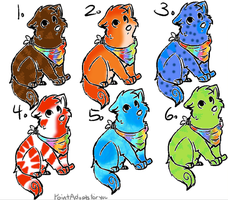 Mood Changing Puppy Adopts by Halfkit-Adopts