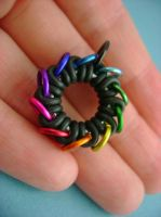 Rainbow Infinite Ring Pendant by monsterkookies