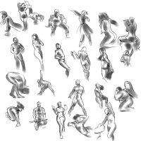 Gesture drawing even more by BinaryDood