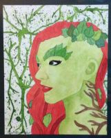 Water Color 2- Poison Ivy by QueenoftheLemurs
