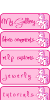 Gallery Buttons Pink Pony by anineko