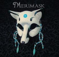 Turquoise Moonstone Fox Mask by merimask