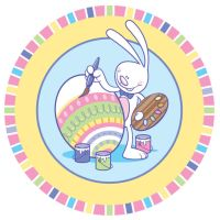 Painting Easter Bunny by Hobbit1978