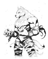 Isaac Radcliffe - Wolf Form -Inks- by Se7enFaces