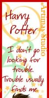 Harry Potter Bookmark by ArtimasStudio