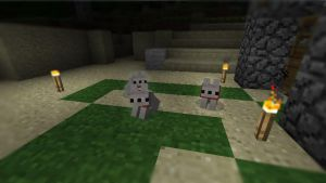 MineCraft - Wolf Puppies by ZoLee1337