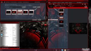 MetalRED - theme for windows 7 by allthemes