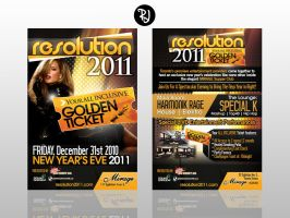 Resolution 2011 Flyer by rjartwork