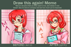 Draw this again meme (2011-2014) by tokya2502