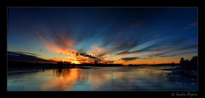 Smoke, sun and water by Behindmyblueeyes