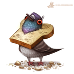 Daily Paint #1017. Bread Head by Cryptid-Creations