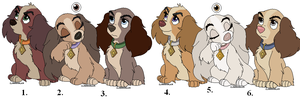 Cocker Spaniel Adoptables (GONE) by Claire-Cooper