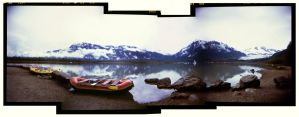 Alaskan River: Holga Stitch by BrianChan