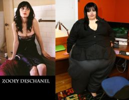 SSBBW Zooey Deschanel by Caffeine-Cycle
