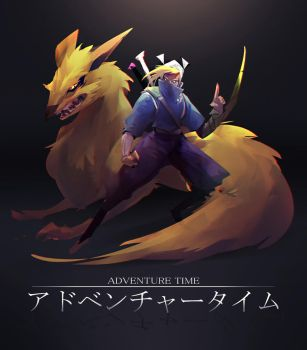 Adventure Time Ninja Style by RyoTazi