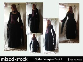 Gothic Vampire Pack 1 by mizzd-stock