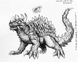 Godzilla : War Of The Monsters : Anguirus File by Erickzilla
