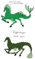 Two Varieties of Himppocampi by Jakegothicsnake