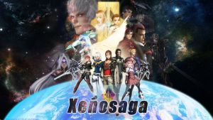 Xenosaga Poster Wallpaper Logo by Billysan291