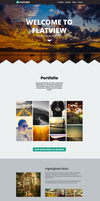 Flatview - One Page Muse Theme by styleWish