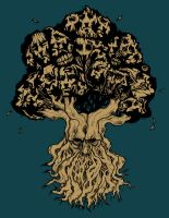 TREE OF FACES TATTOO V2 by BURZUM