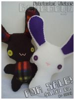 Rabbit Plushies -- FOR SALE by BelleBoyd