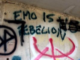 """emo is """"NOT"""" rebelion by pleasestopshecries"""