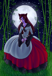 Moonlight wolfwoman by Strawberry-Itchiko