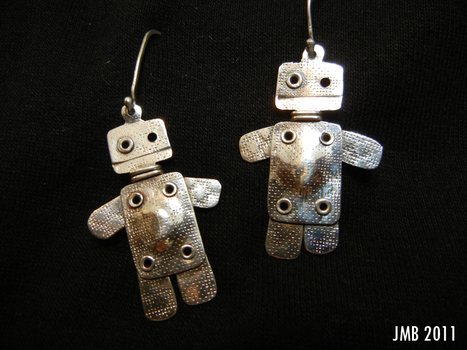 Robot Earrings by Jb-612