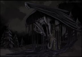 Flight Rising contest Entry ShadowBinder by LilOrangeDragoness