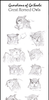 Great Horned Owls of Ga'hoole by Spectra-Sky