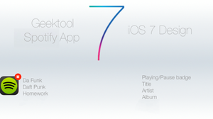 iOS 7 Geektool Spotify by benbarrett0487