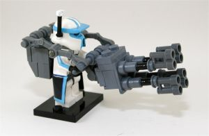 ARC Trooper C 9 with heavy gun by Xero-Dubber