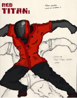 Red Titan- Action Pose- G-pen and Anatomy Practice by mtijan2008