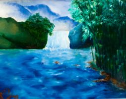Scenery in Oil Painting by riez89