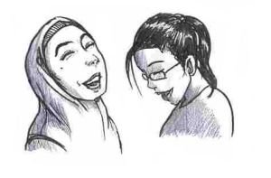Girls' laughters by ashrel
