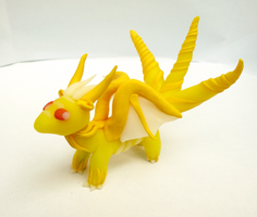 Sun Dragon with three tails by Aberhavre