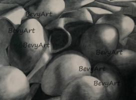 Charcoal Eggs by BevyArt