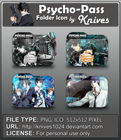 Psycho-Pass Anime Folder Icon by Knives by knives1024