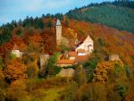 Hirschhorn Castle in Autumn by Yaehara