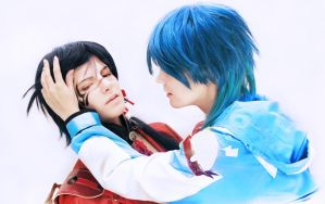 Don't look [DMMD Aoba and Koujaku] by Milukyo