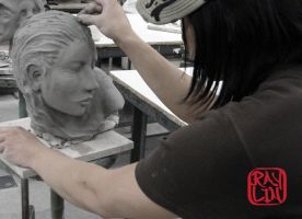 Life Size Woman Bust WIP by artanis-one