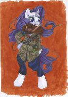 Rarity Soldier by MonikaKryza